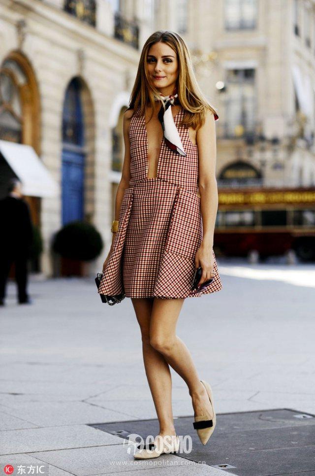 格纹裙才不土,娜扎都爱它美得不像话