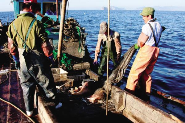 气温回升 大连渔民备战春捕