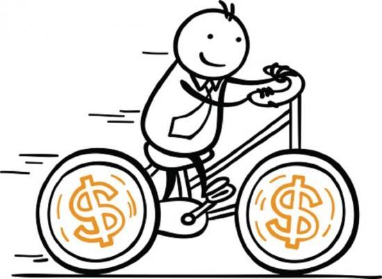 单车头盔矢量图