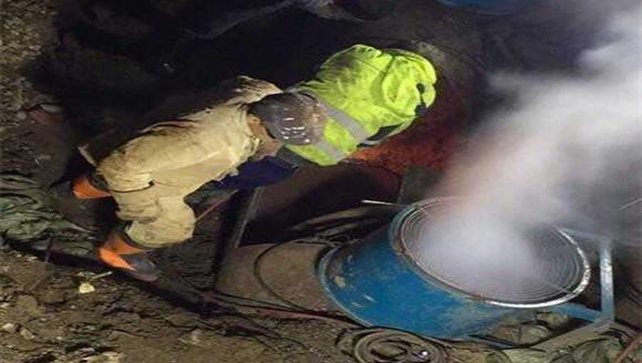 沈阳珠林路一供热主管网泄漏