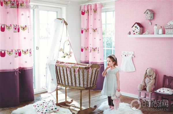 儿童房窗帘材质