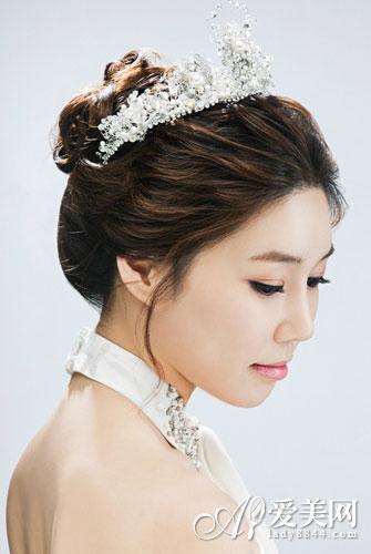 韩式新娘盘发 让你看到最美的自己图片