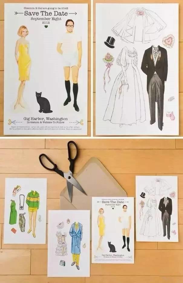 7个创意搞定婚礼请柬 完全不用担心看完就扔