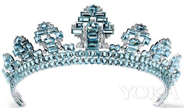 1937年Cartier海蓝宝钻石Tiara Thursday。