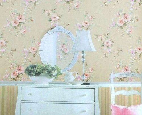 墙纸装修效果图:欧式田园风格墙,时尚温馨的田园风