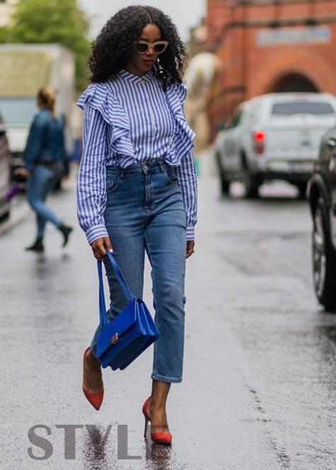 春天,升级你的蓝色条纹衬衫
