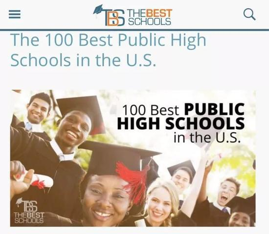 Thebest schools.org 的前100名报道