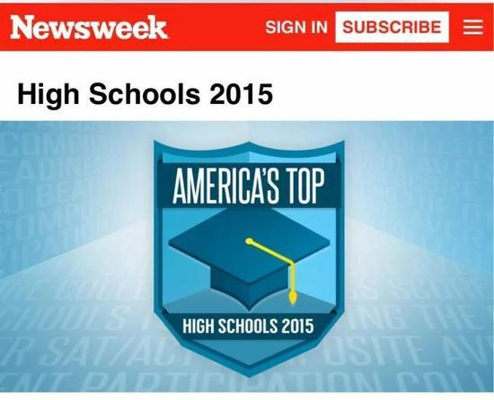 新闻周刊,美国最佳高中评比结果。