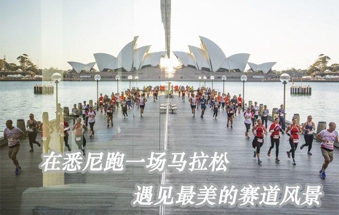 极限马拉松冠军陈盆滨参赛澳佳宝马拉松 携娇妻萌娃赏悉尼之美