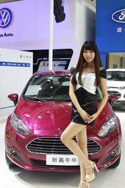 福特萌妹系车模