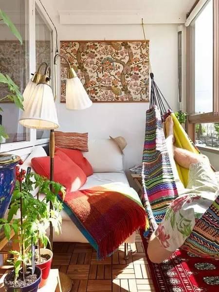 16套能在阳台睡大觉的设计 舒适让你把控不住!
