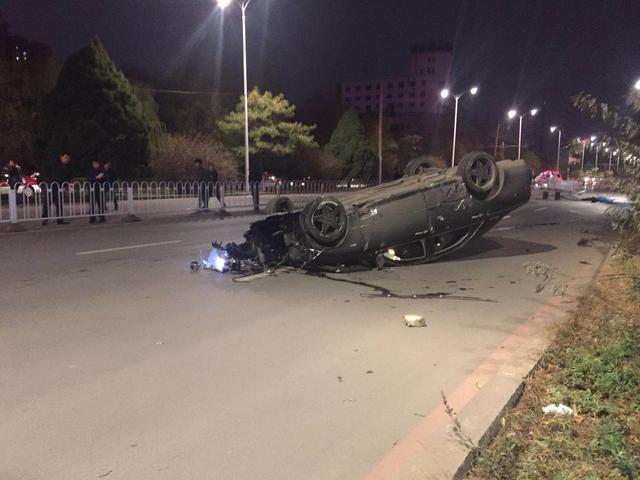 沈阳男子骑共享单车被撞身亡 现场惨烈