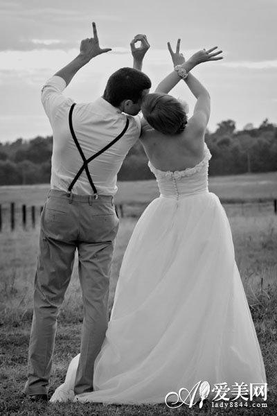 新创意婚纱照 趣味十足