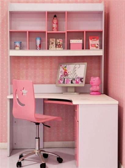 连体电脑书桌柜组合-书架书桌玩合体 12款儿童书桌省出空间