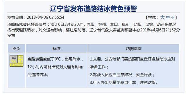 辽宁普降雨雪局地大雪 气温骤降