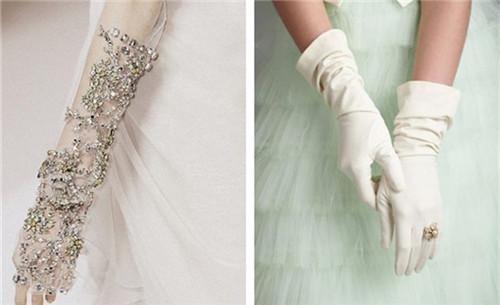 婚纱手套的_小女孩戴公主婚纱手套
