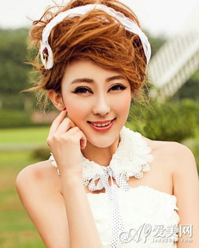 短发新娘造型 短发新娘 短发 短发新娘婚纱照