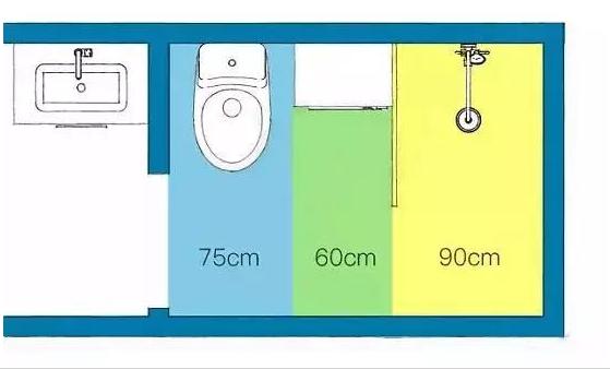 6㎡卫生间巧做干湿分区
