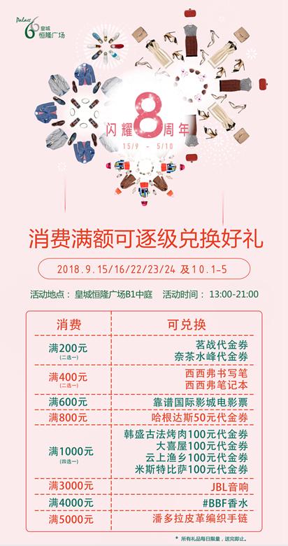 皇城恒隆广场 闪耀8周年!