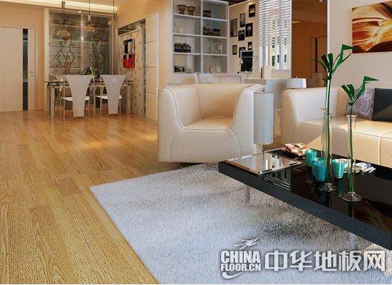 客厅木地板推荐颜色 地板类型:实木复合地板 地板颜色:黄色 产品特点:特殊制作工艺,使地板纹理自然过渡。防水处理,可以阻隔水气的浸入,大大增强木地板的抗潮能力。 小编点评:这款地板色彩中性偏黄,并且纹理较逼真,家具和涂料可以有很多重经典的搭配方案。选择这款地板的装修业主,可以选择原木色家具,也可以选择色彩相近的家具。