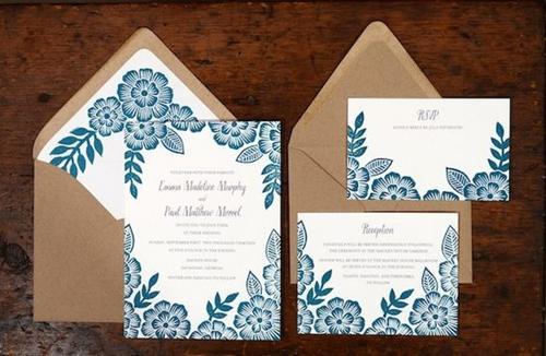 五种不同造型的婚礼请柬推荐