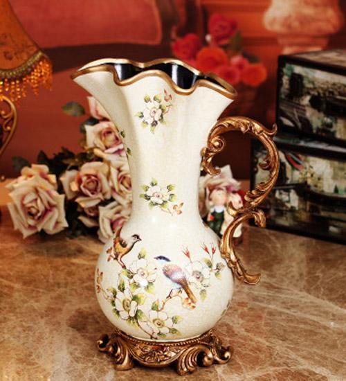 part1 田园风格陶瓷花瓶 推荐1:欧式田园大花瓶 价格:275元 品牌:美