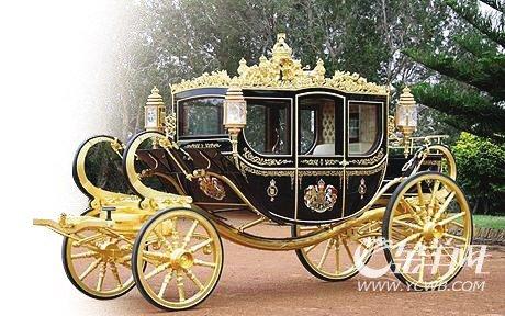 黄金婚车给威廉王子准备好了