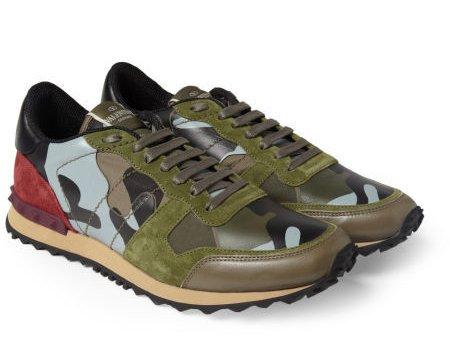 VALENTINO 迷彩小羊皮运动鞋 约5160元-解救街头难搭配的嘻哈高帮鞋