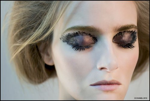 Winter 2010 show supermodel Chanel makeup site
