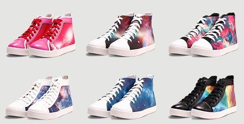 星空涂鸦鞋 迈出你的浩瀚宇宙