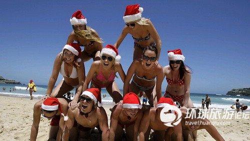 穿比基尼在澳大利亚过圣诞节
