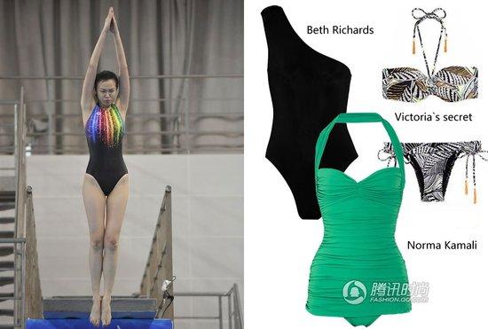 说衫道势:女星玩跳水 泳装拼时尚