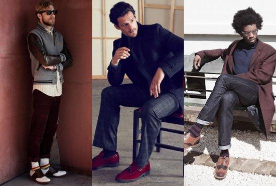 美国男士间开始流行穿花袜