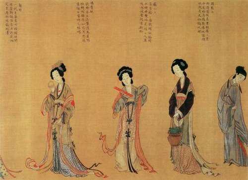 古代女子发型优雅多变
