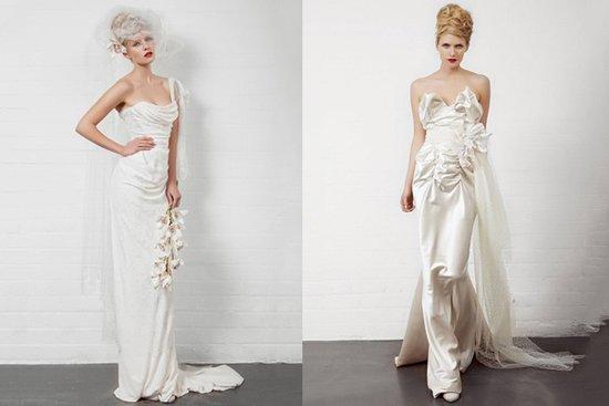 夸张裙摆 西太后的婚纱设计