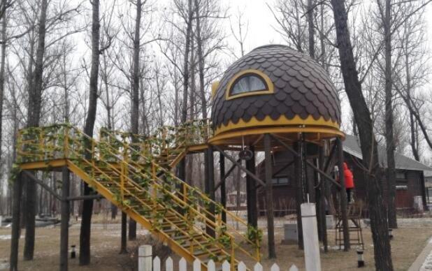 廊坊林栖谷:住神秘树屋,还能泡北方唯一的树上温泉!