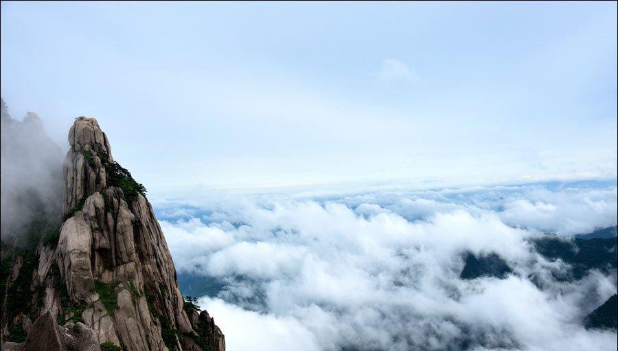 雨后黄山如仙境|云雾朦胧弥漫 云海起伏涌动