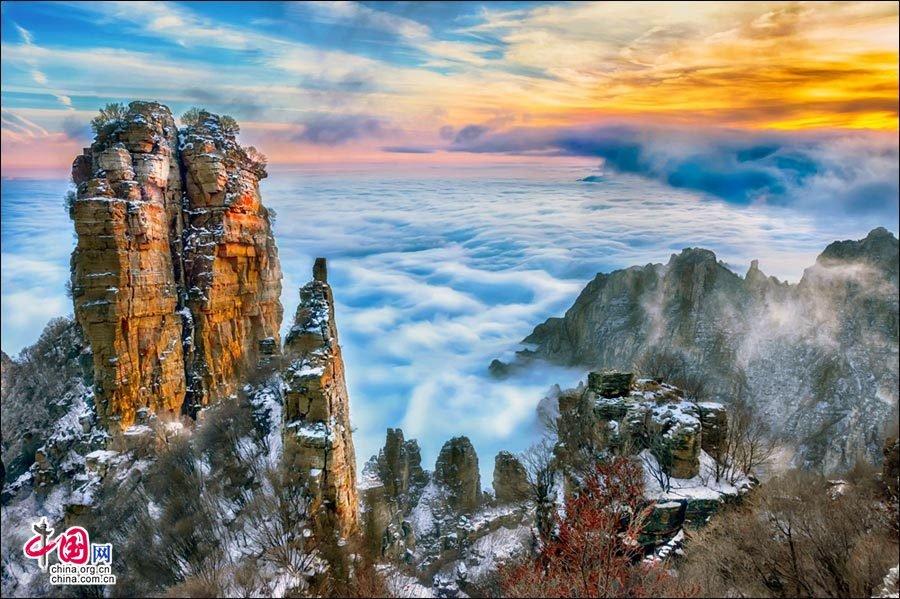 北方第一奇山白石山:传说中的昆仑虚(图)