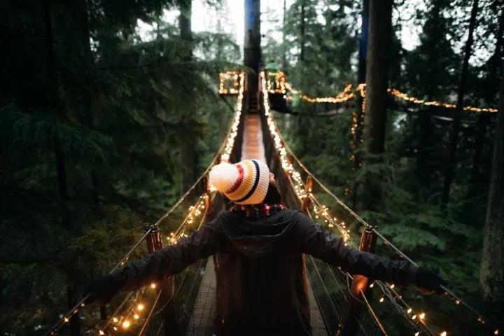 温哥华圣诞灯展绚彩开幕 Capilano吊桥观展指南