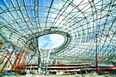 北京新机场航站楼力争年内封顶封围