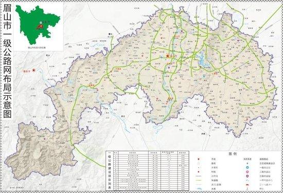 天府新区仁寿新图,十三五交通规划都在这里图片