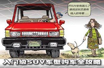 SUV车型购车全攻略(上篇)--入门级/主流型
