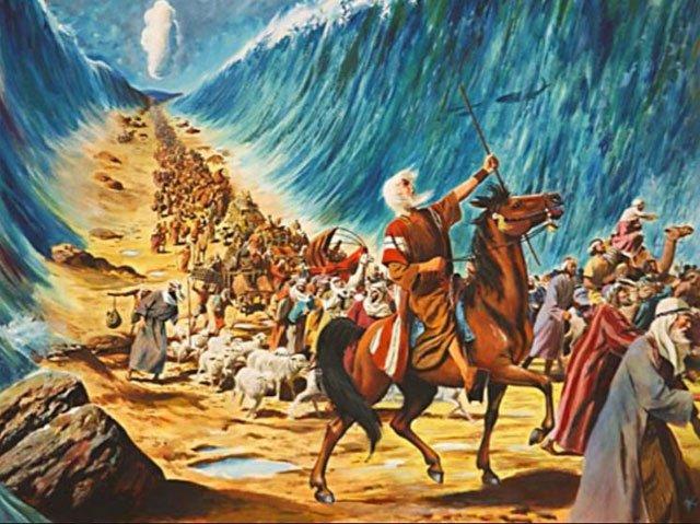 画作:《摩西出埃及》