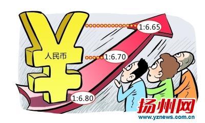 今年人民币累计升值近5%