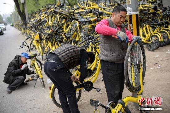 共享单车拉动10万人就业 部分职位月收入过万