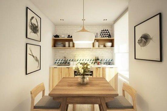 45平木色小户型婚房 超美家具帮你淘