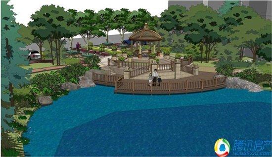 御湖城园林景观规划图片