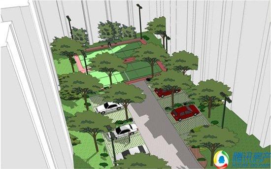 异形树阵广场平面图