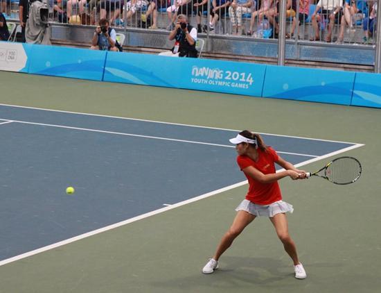 青奥冠军徐诗霖8岁赴美学网球 目标大满贯冠军