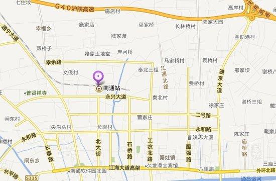 南通火车站地图位置